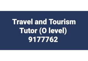 Travel and Tourism Tuitor (O level)